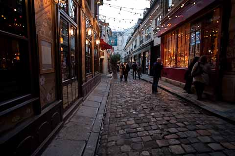 One of the small cobblestone side streets that make up the city.