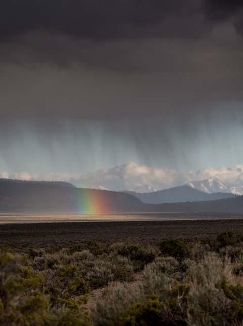 Rainshowers moving across the plains