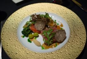 Black truffle and Kobe beef...good.