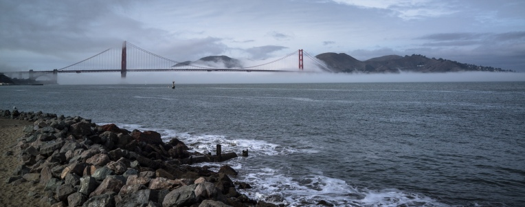 Love that fog rolling into the bay