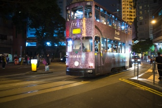 One of the many trams around Hong Kong