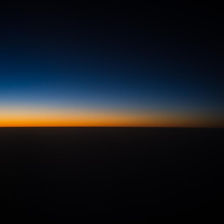 Dusk at 35,000 feet.