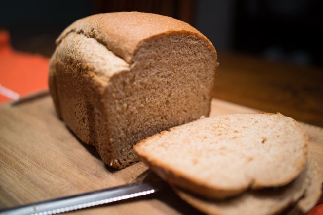 Trying out a new wheat bread recipe.