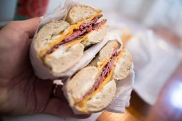 A very good sandwich.
