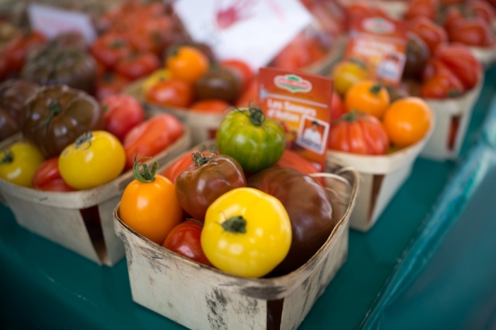 Some good looking tomatoes at the farmer's market.