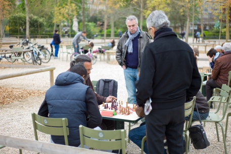 A game of chess in the park