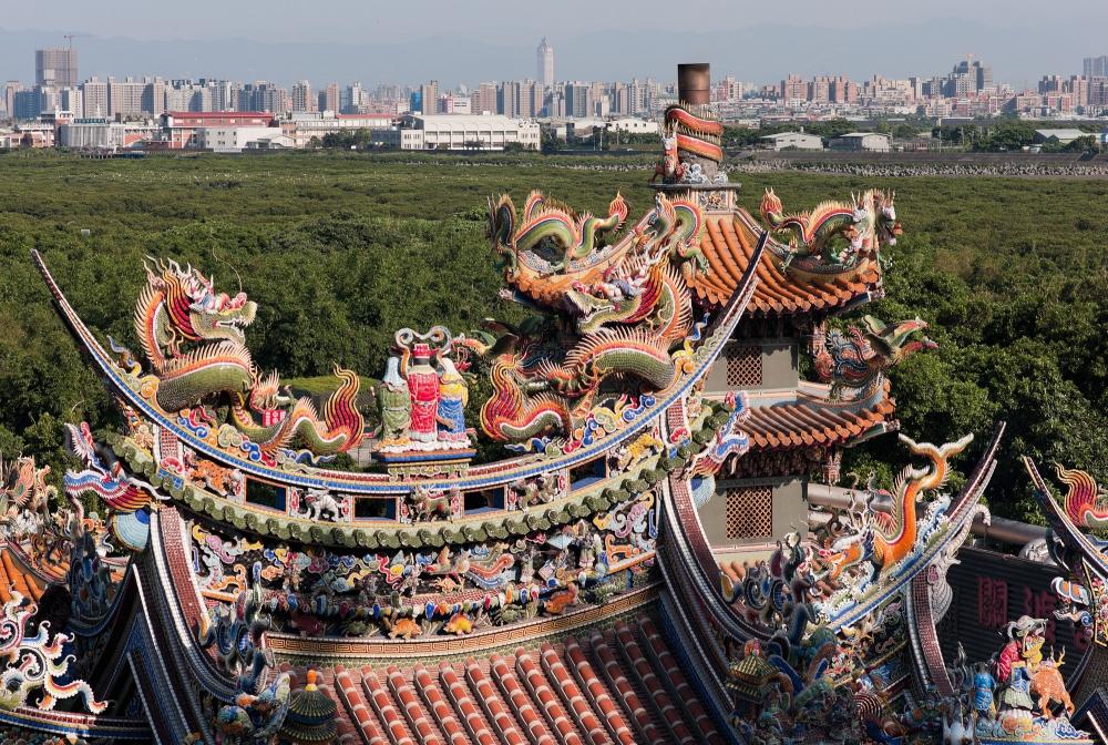 The roof of Guandu Temple (Taoist).