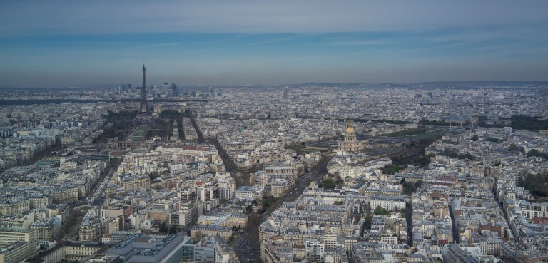 Here's your view from the top of the Montparnase Tower.  12 Euros and no line gets you to the top.