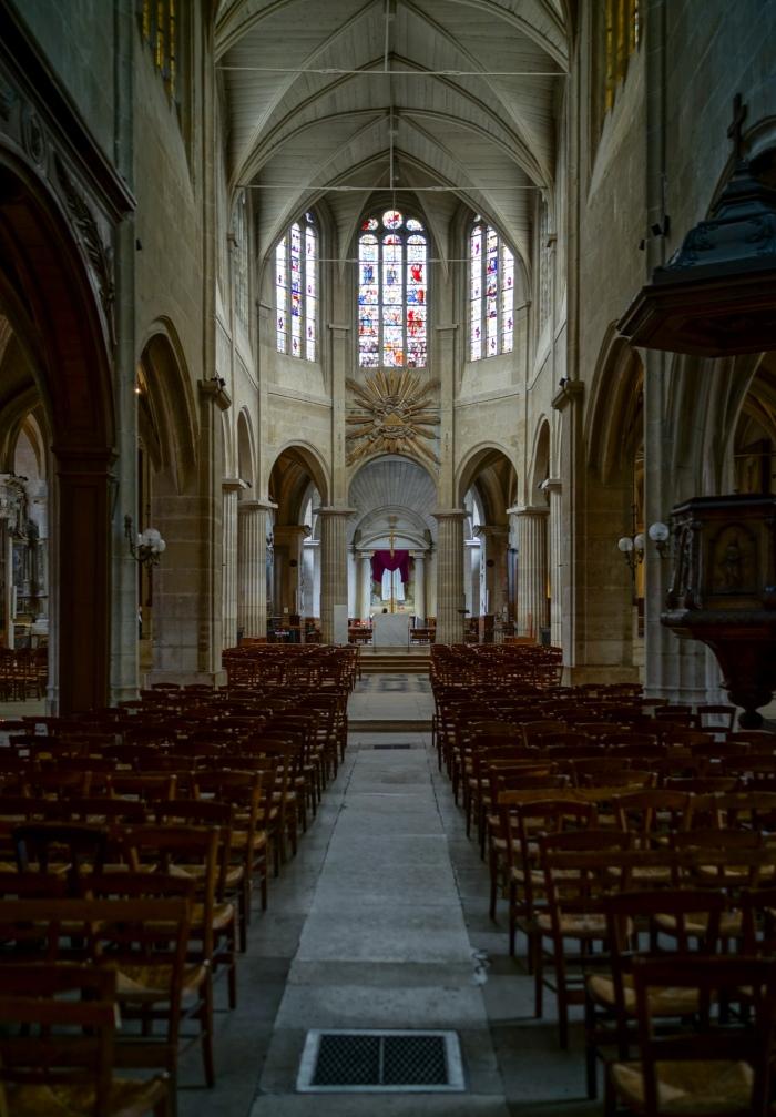 Inside the Church of Saint Medard at the bottom of Rue Mouffetard.