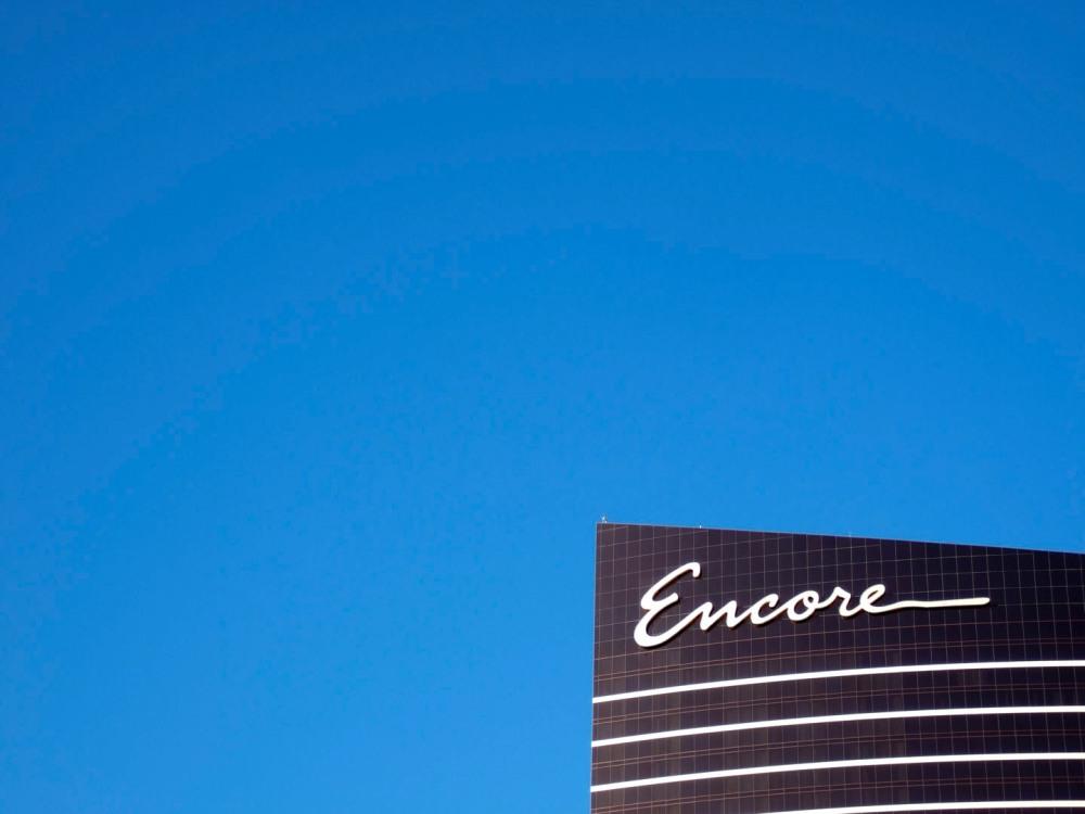 Rich blue skies over Las Vegas.