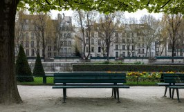 We sat in this nice little park behind Notre Dame for the first time. If you can find a bench that pigeons have used over and over for a toilet, it's a great place to sit and people watch.