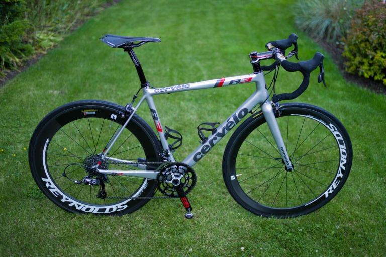 Spring tune-up. Cervelo R3 with Reynolds 46/66 carbon wheels.