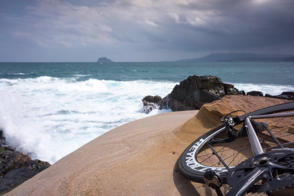 The bike has taken me to some pretty cool sites along the way. Taiwan's north coast.
