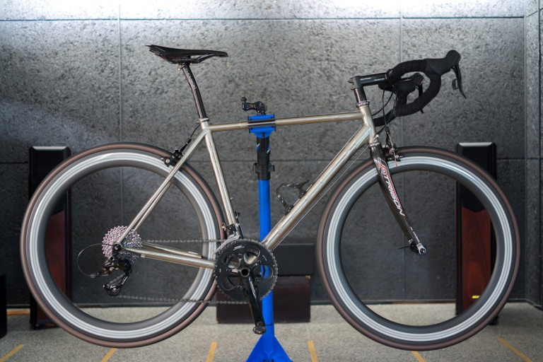 The carbon framed bike is fun, fast, agile and light, but for longer rides the titanium framed bike is great.