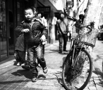 An over excited boy in Shanghai, China.