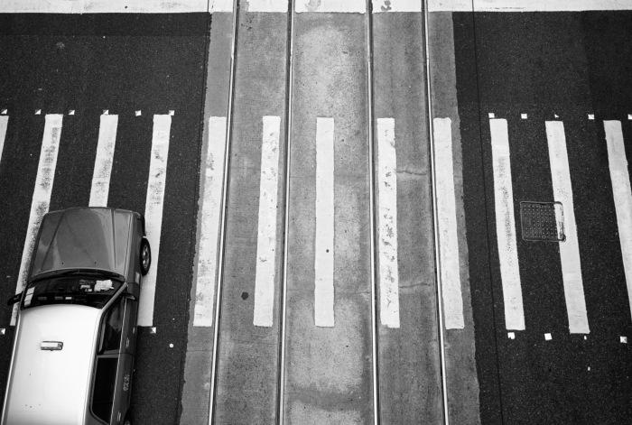 View from a pedestrian crossing. Hong Kong, Hong Kong