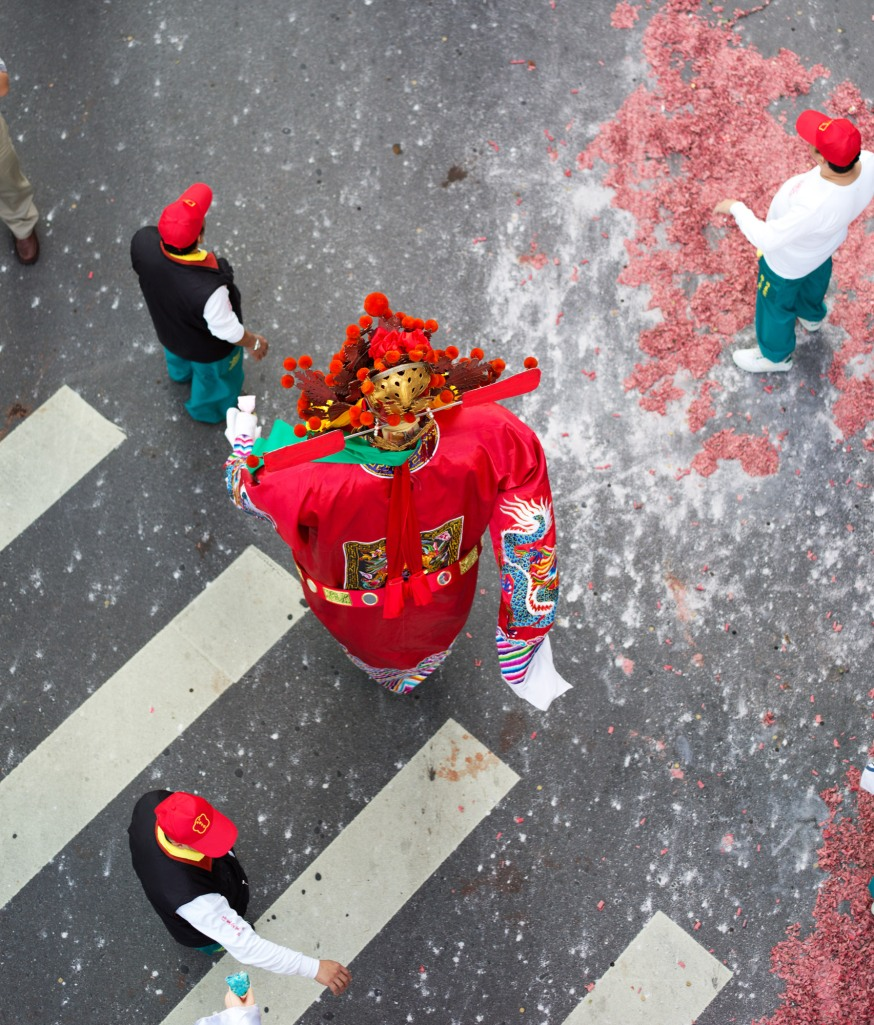 Parade from above. Taipei, Taiwan