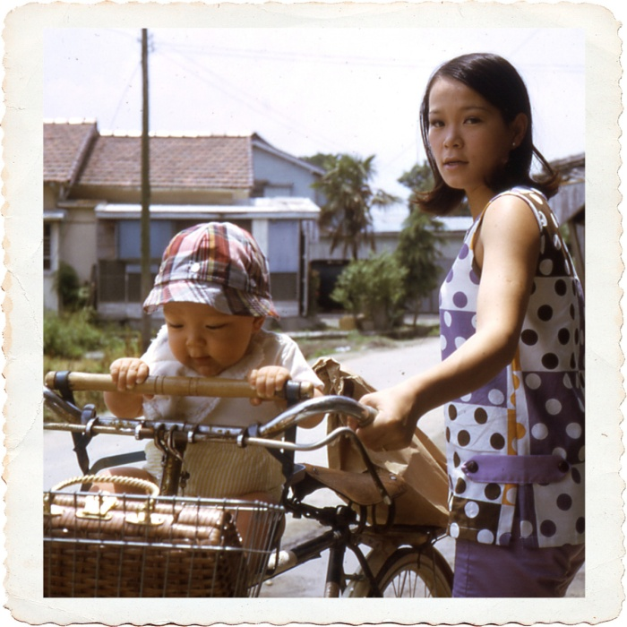 Maybe it all started here with my mom taking me out shopping on the bike. Japan 1969