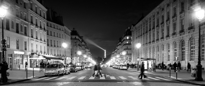 And finally, probably my favorite crosswalk of them all, the one just oposite of the Pantheon with the Eiffel Tower in the background. Paris, France