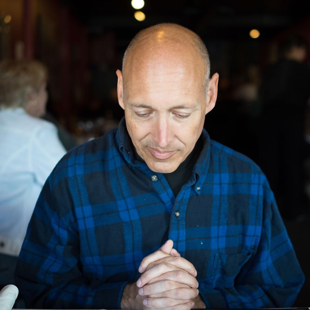 A friend at dinner. (Seattle, Washington)