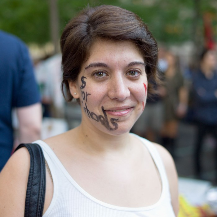 An Occupy Wall Street supporter. (New York City, New York)