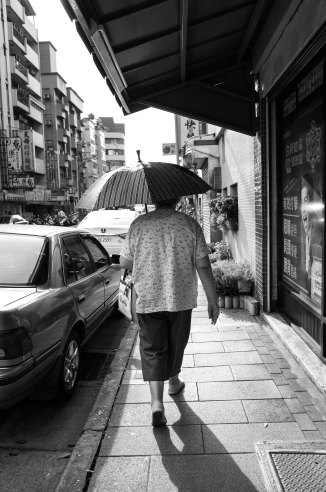 Sunshine and an umbrella