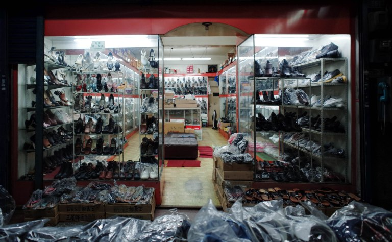This shoe store really belongs in the Cluttered post from a few days ago.