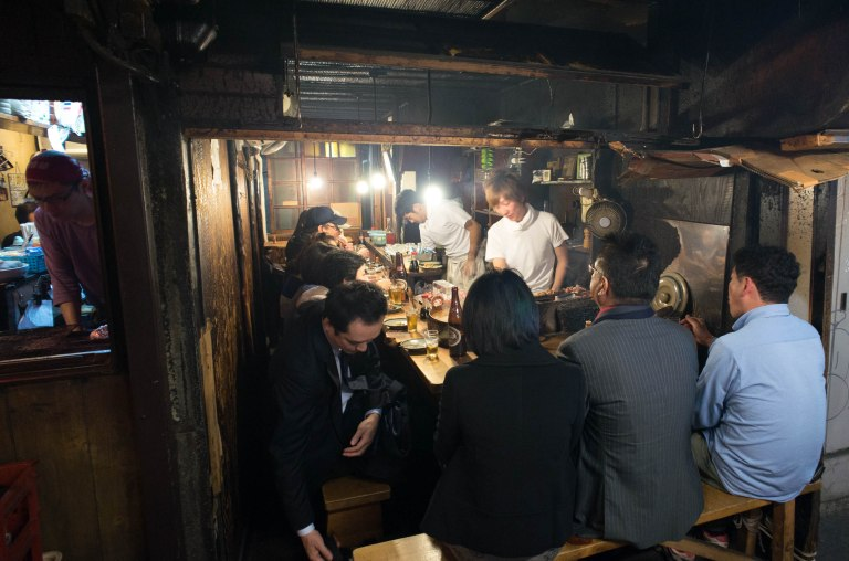 Just to give you an idea of how small these places are, you can seat three across the front and about six down the bench on the right. When the guy at the end needs to get up the whole restaurant has to shuffle around, love it.