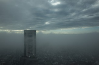 The clouds are starting to break up over Tokyo.