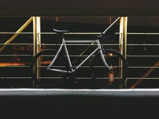 Currently, my favorite bike - a fixed gear (47/17) steel framed bike. (iPhone 6, VSCOcam, F1 preset)