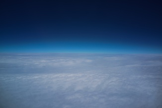 There's something peaceful about looking out of an airplane window.