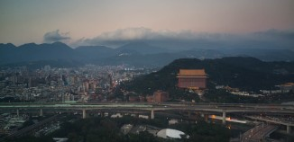 On short final to Taipei's Songshan International Airport