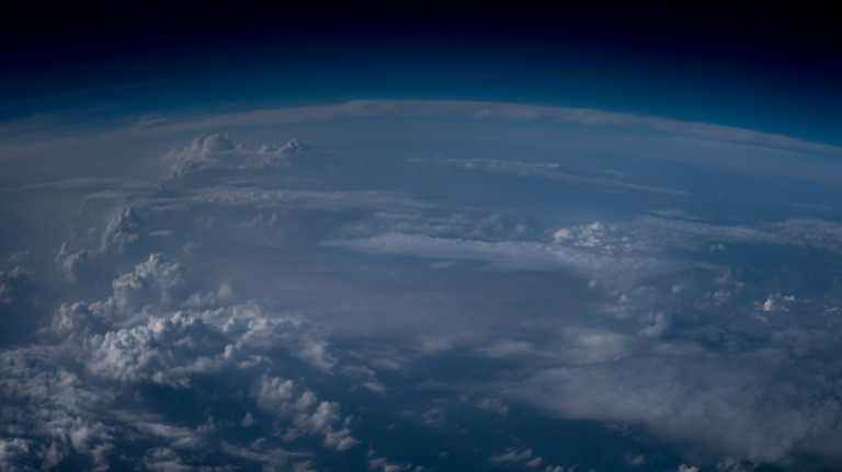 Dreaming of space, led me to create this very exaggerated view from my window seat