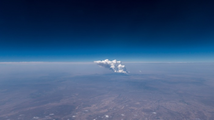 I believe this was taken somewhere over the great plains.