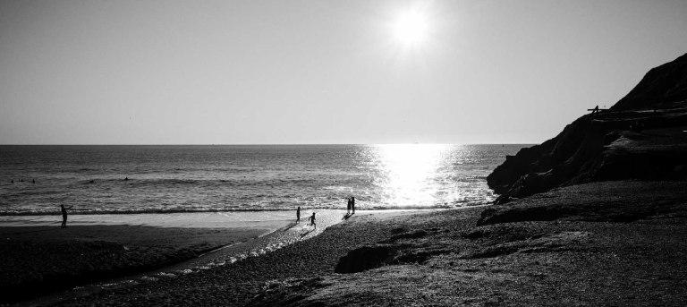 The bubble man on Rodeo Beach. (Ricoh GR)