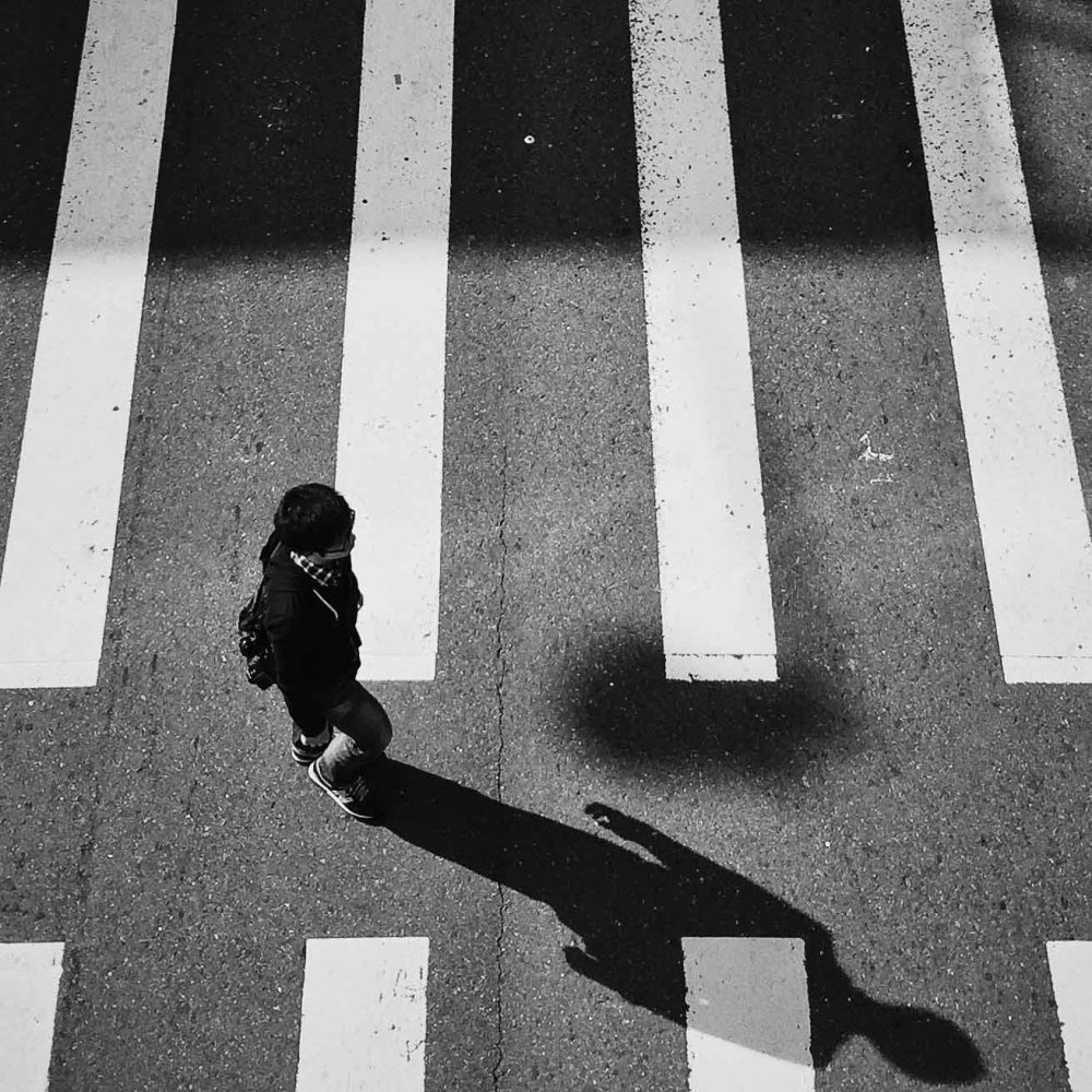 Taipei crosswalk from above. (iPhone 6 with Bitplay SNAP! 6 and edited in VSCOcam)