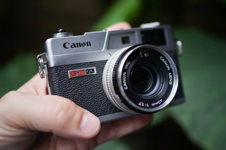 The Canon Cononet QL17 GIII, what a beautiful camera.