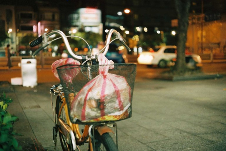 Always looking for a way to work a bicycle in to the scene. (Canon Canonet QL17 with Kodak Portra 400)