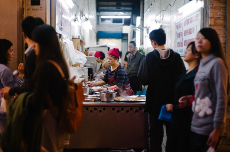 Taipei is absolutely full of small independent food vendors like this one here. (Leica M9 w/ Canon 50mm f/1.4 LTM @ f/1.4)