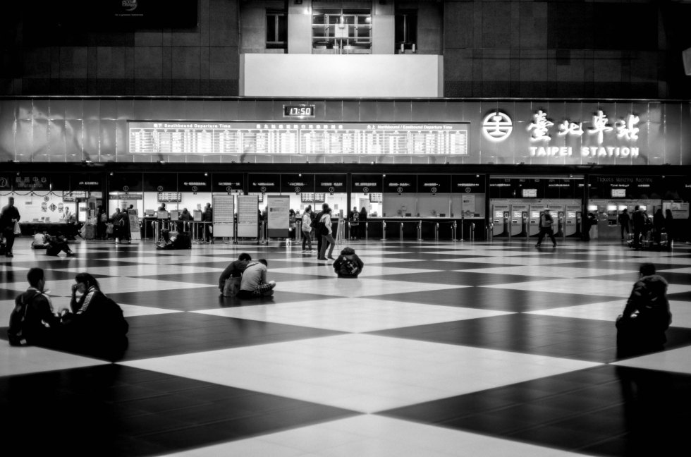 "Taipei Main Station, the ""Chessboard""  Leica M9 Canon 50mm f/1.4 @ f/1.4"