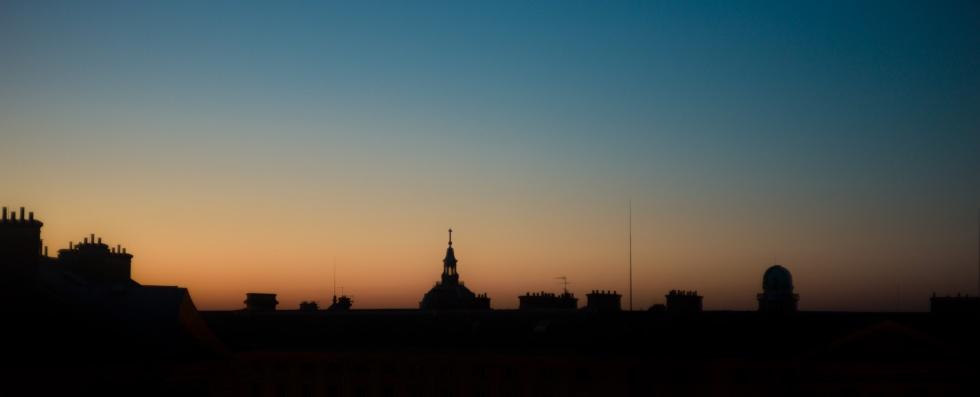 Rooftops at Sunset, 5th Arr. (Leica M9 with Canon 50mm f/1.4 LTM)