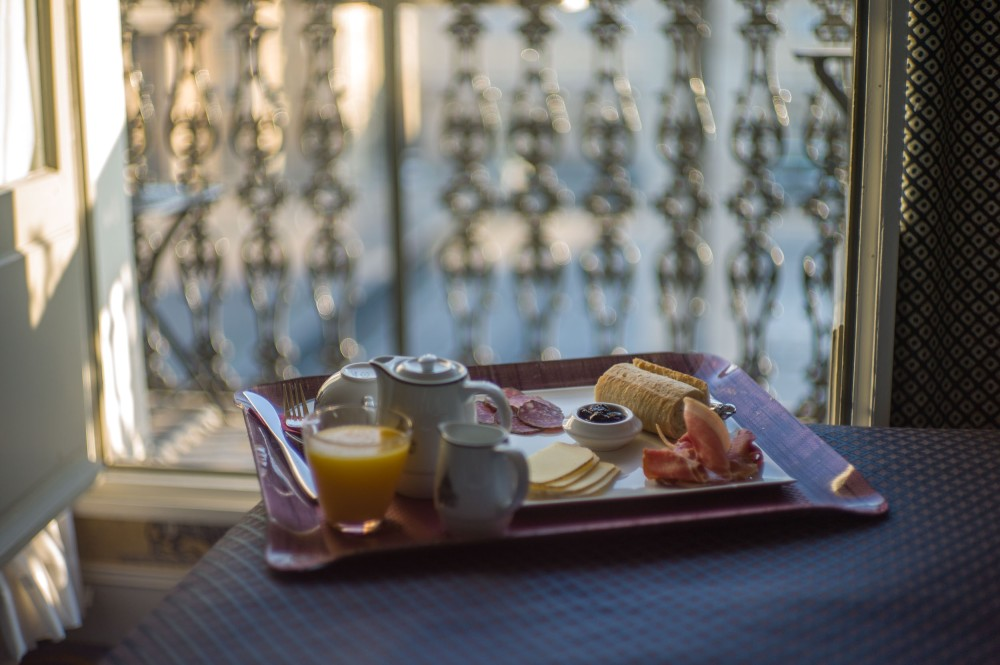 Breakfast in Bed, Hotel Grands Hommes (Leica M9 with Canon 50mm f/1.4 LTM)