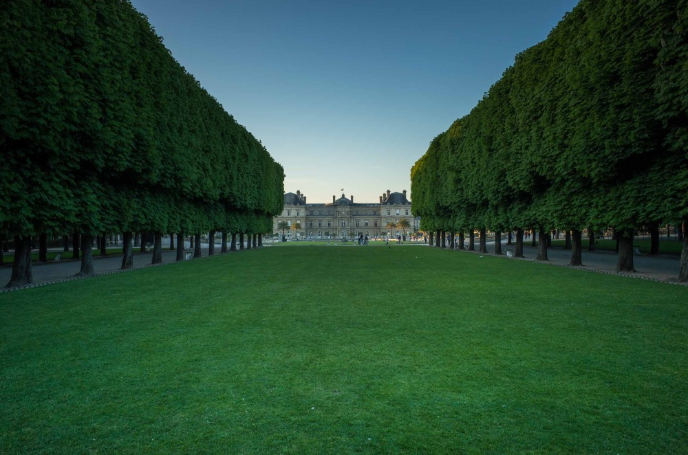 Luxembourg Palace sits in the background