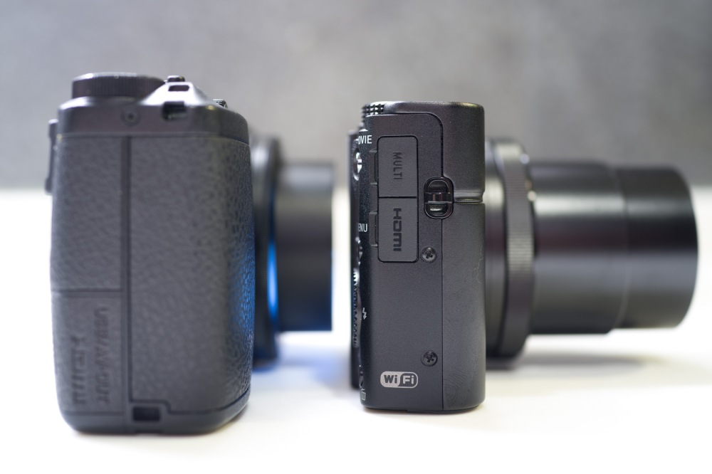 The grip on the Ricoh GR does add some bulk to the body.