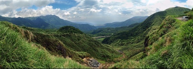 View looking toward the north coast of Taiwan