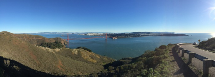 Getting ready to descend into the Marin Headlands