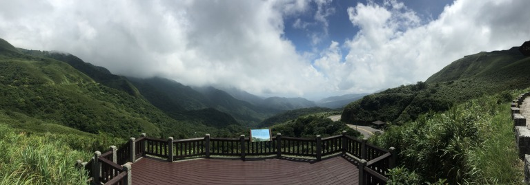 Clouds moving in just before a typhoon