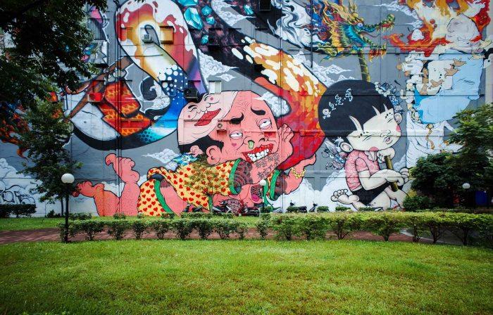 Love the colorful urban art.