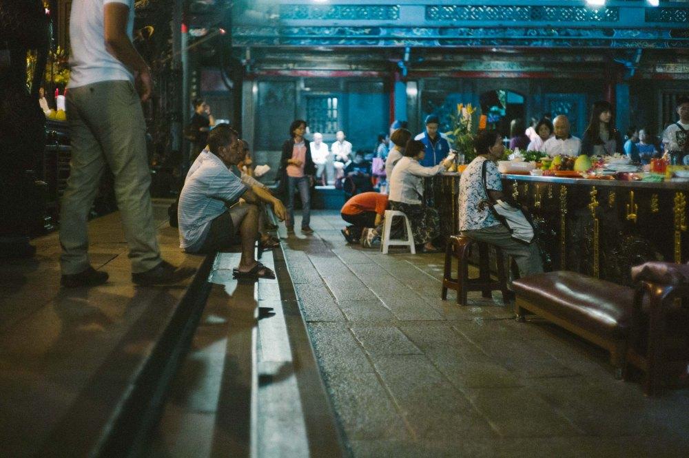 Saturday night at the temple. (Leica M9, Canon 50mm LTM, VSCO)