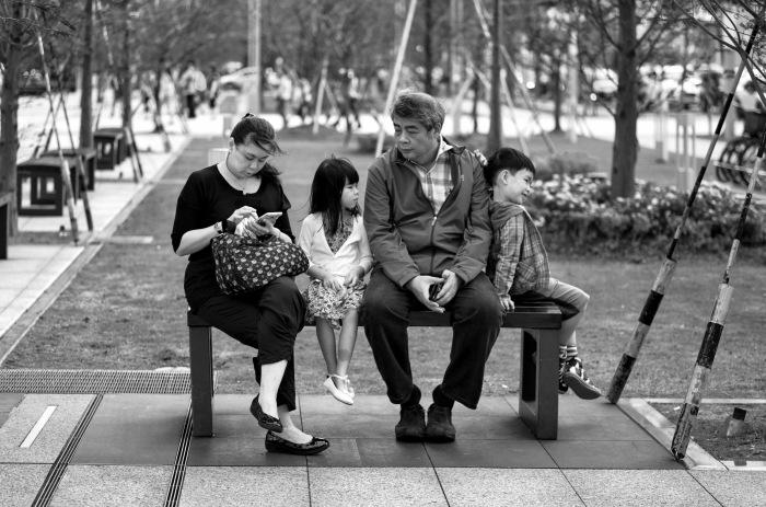 Three generations. Leica M9 and 75mm Summarit.